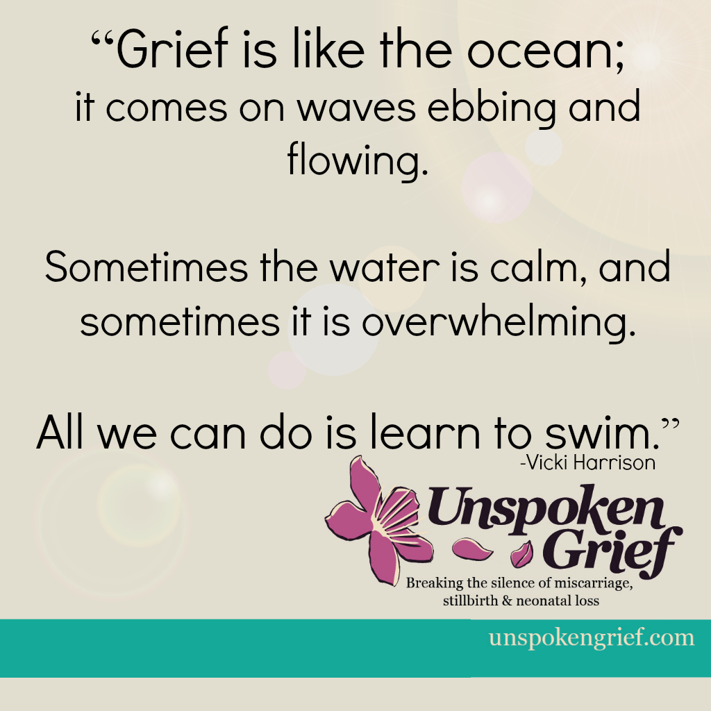 Grief Quote: Grief is like the ocean